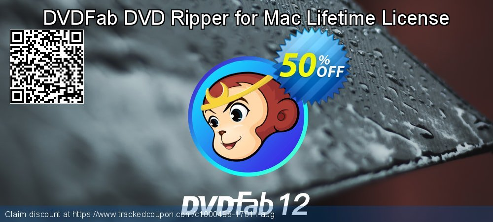 DVDFab DVD Ripper for Mac Lifetime License coupon on Video Game Day deals