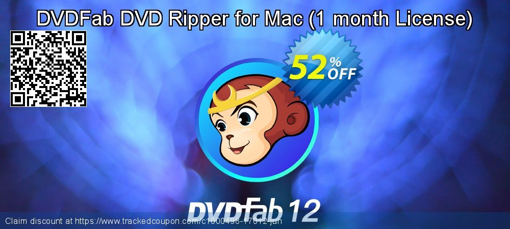 DVDFab DVD Ripper for Mac - 1 month License  coupon on World Population Day offer