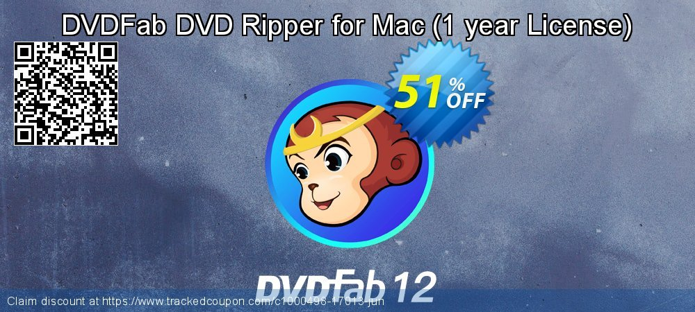 DVDFab DVD Ripper for Mac - 1 year License  coupon on Nude Day discount