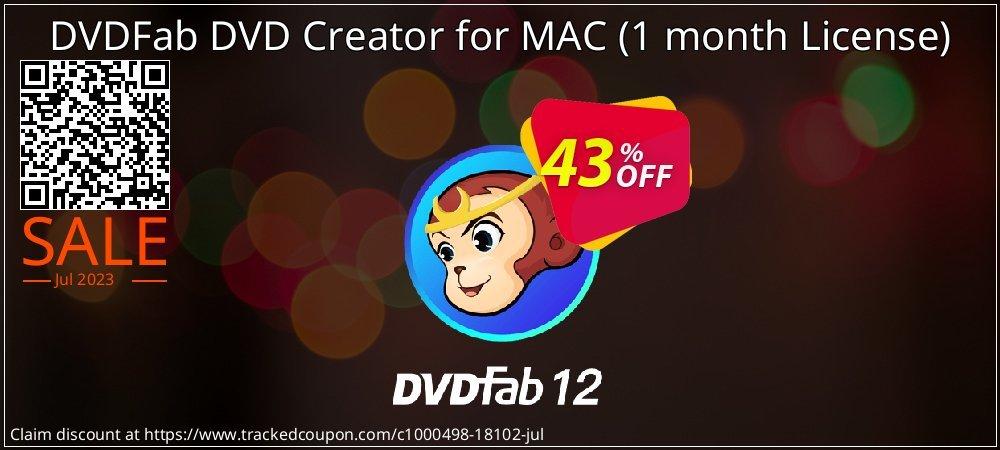 DVDFab DVD Creator for MAC - 1 month License  coupon on Eid al-Adha discount