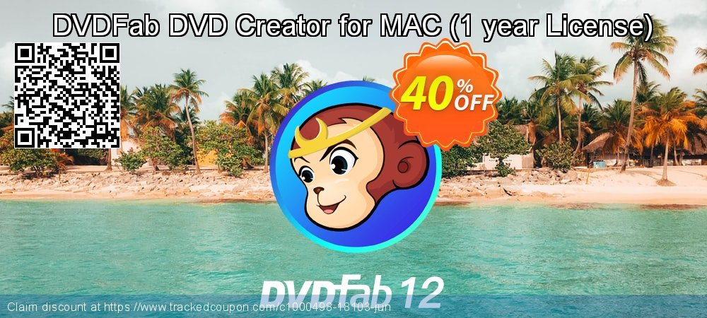 DVDFab DVD Creator for MAC - 1 year License  coupon on Video Game Day offering discount