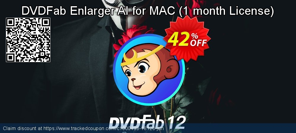 DVDFab Enlarger AI for MAC - 1 month License  coupon on Emoji Day discount