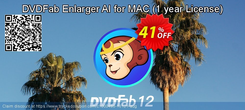 DVDFab Enlarger AI for MAC - 1 year License  coupon on Parents' Day offering discount