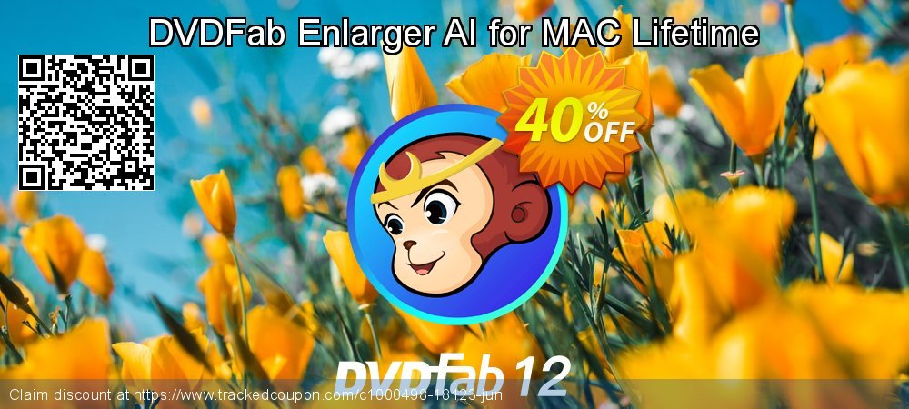 DVDFab Enlarger AI for MAC Lifetime coupon on National Bikini Day super sale