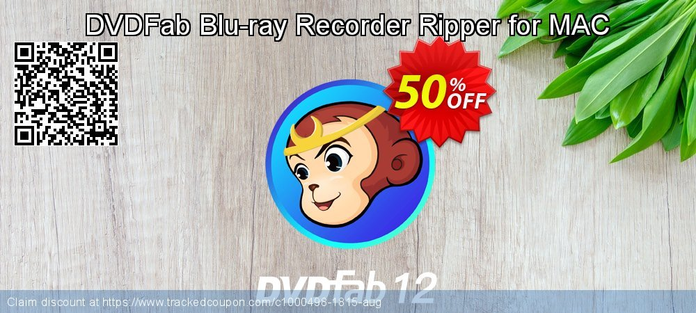 DVDFab Blu-ray Recorder Ripper for MAC coupon on World Chocolate Day super sale