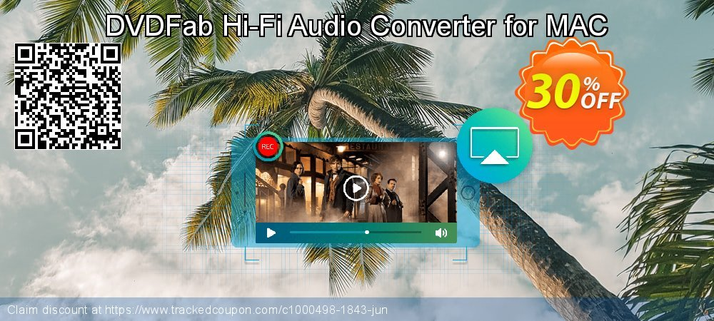 DVDFab Hi-Fi Audio Converter for MAC coupon on World UFO Day discounts