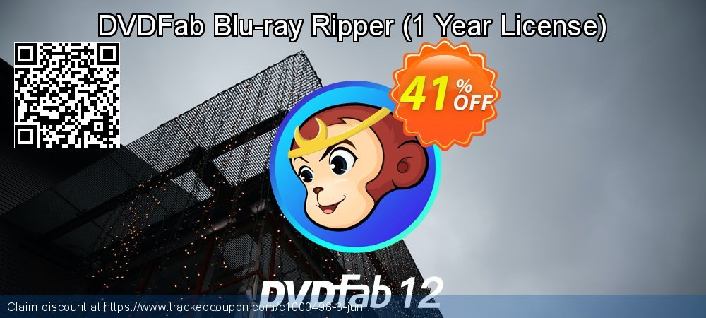 DVDFab Blu-ray Ripper - 1 Year License  coupon on Video Game Day discount