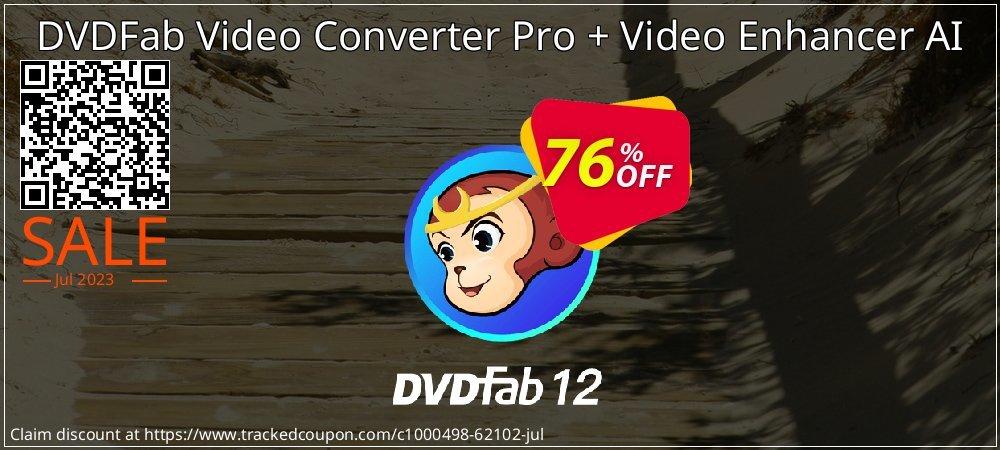 DVDFab Video Converter Pro + Video Enhancer AI coupon on National Bikini Day offer