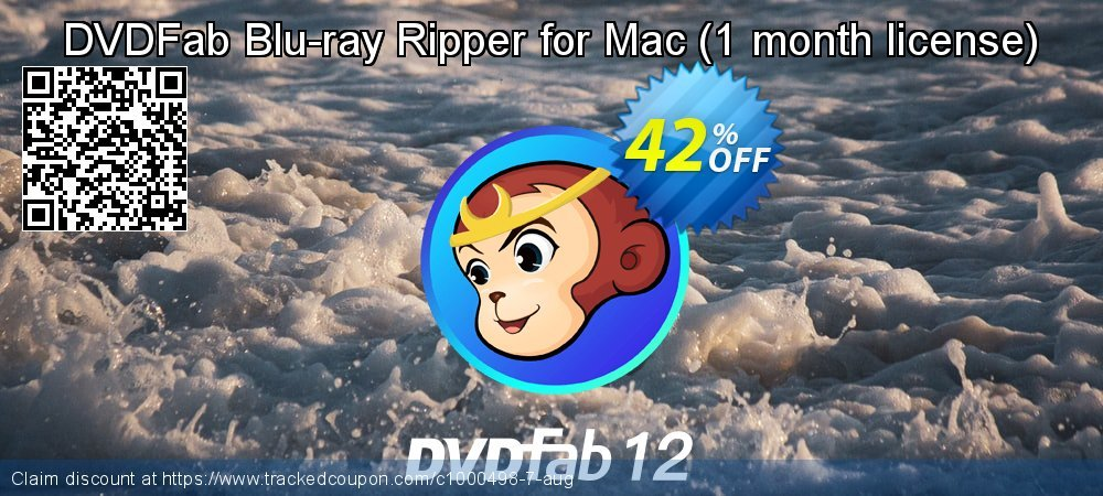 DVDFab Blu-ray Ripper for Mac - 1 month license  coupon on Emoji Day discounts