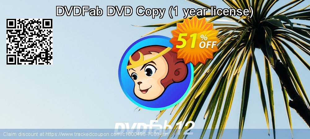 DVDFab DVD Copy - 1 year license  coupon on National French Fry Day deals