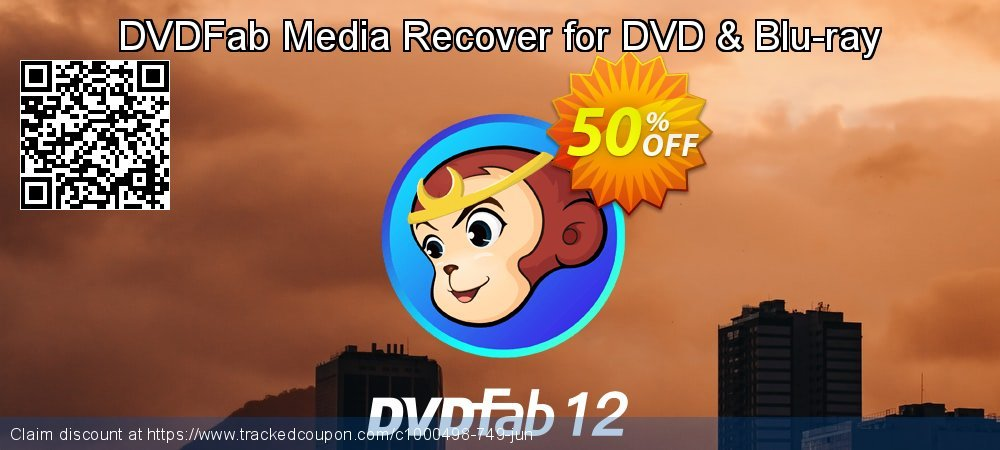 DVDFab Media Recover for DVD & Blu-ray coupon on Nude Day offer
