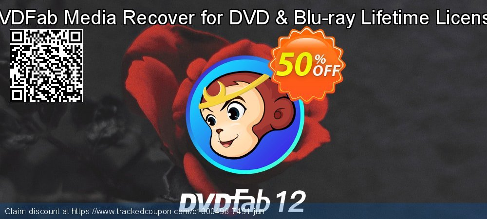 DVDFab Media Recover for DVD & Blu-ray Lifetime License coupon on Emoji Day discount
