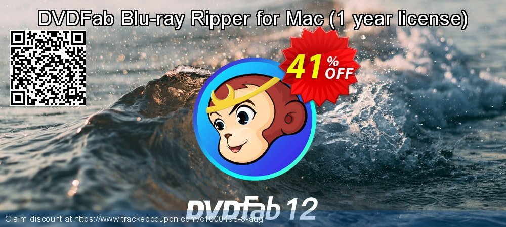 DVDFab Blu-ray Ripper for Mac - 1 year license  coupon on Parents' Day promotions