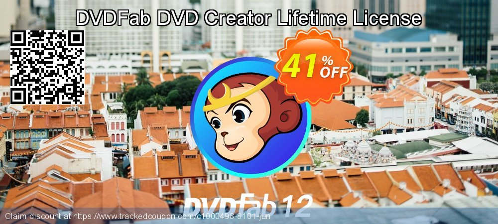 DVDFab DVD Creator Lifetime License coupon on Tattoo Day deals