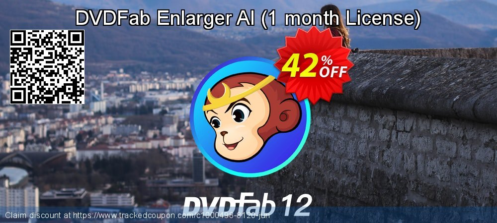 DVDFab Enlarger AI - 1 month License  coupon on World Chocolate Day offer