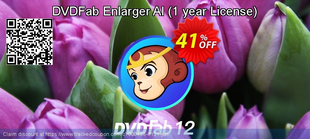 DVDFab Enlarger AI - 1 year License  coupon on National French Fry Day discount