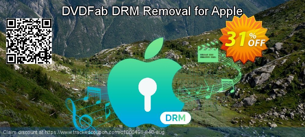 DVDFab DRM Removal for Apple coupon on Nude Day discount