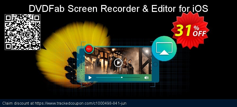 DVDFab Screen Recorder & Editor for iOS coupon on Tattoo Day offering discount