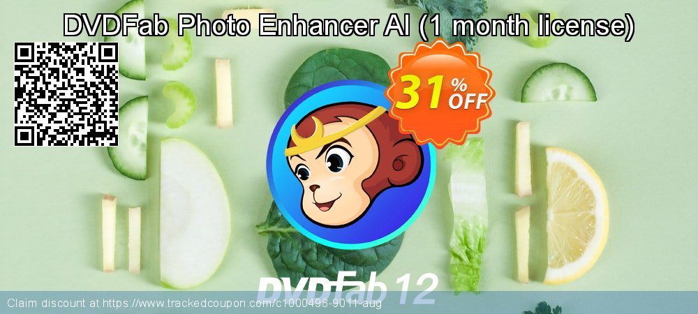 DVDFab Photo Enhancer AI - 1 month license  coupon on Tattoo Day offer