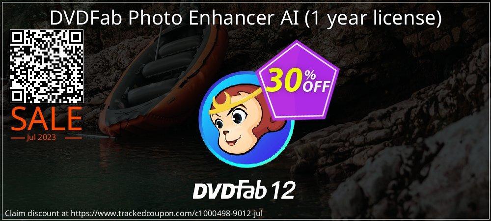 DVDFab Photo Enhancer AI - 1 year license  coupon on Emoji Day discount