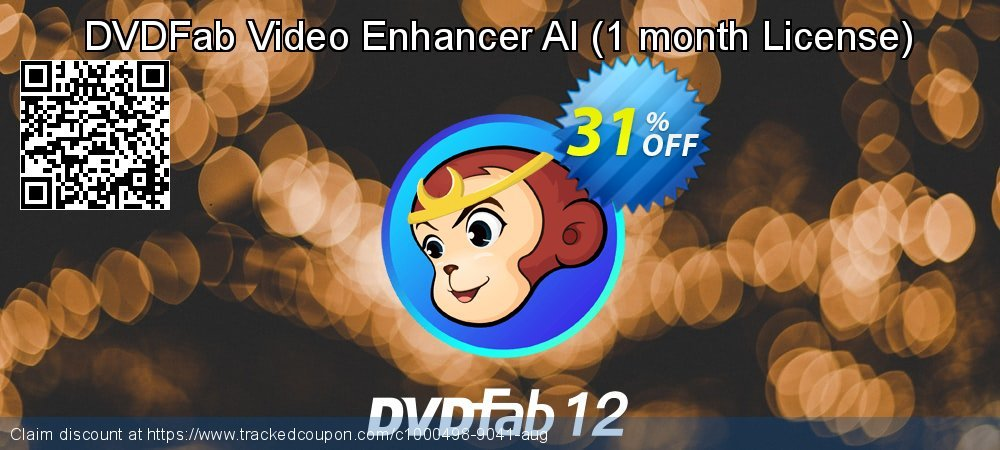 DVDFab Video Enhancer AI - 1 month License  coupon on National Bikini Day offering sales