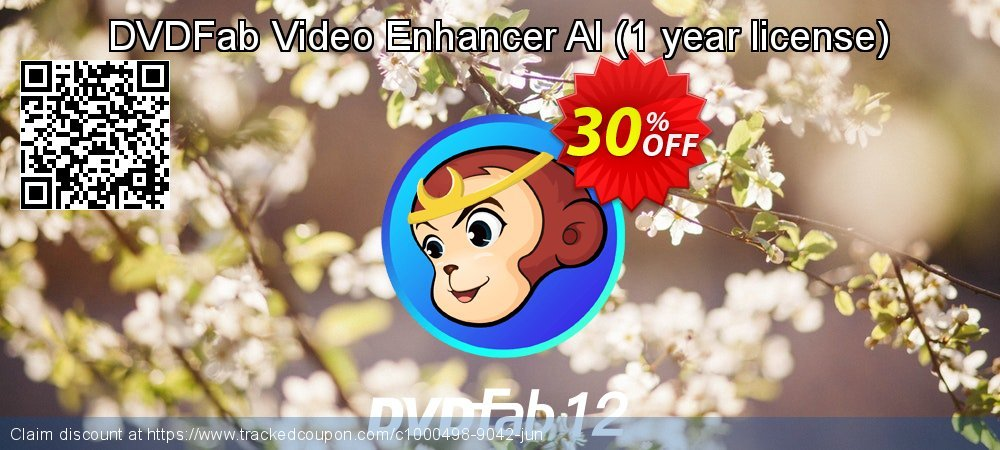 DVDFab Video Enhancer AI - 1 year license  coupon on American Independence Day super sale