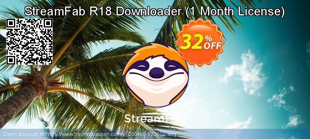 StreamFab R18 Downloader - 1 Month License  coupon on American Chess Day super sale