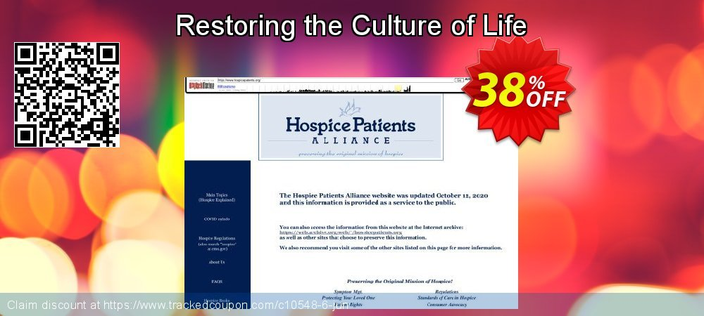 Get 30% OFF Restoring the Culture of Life discount