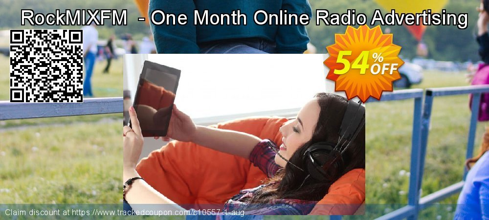 Get 50% OFF RockMIXFM - One Month Online Radio Advertising offering sales