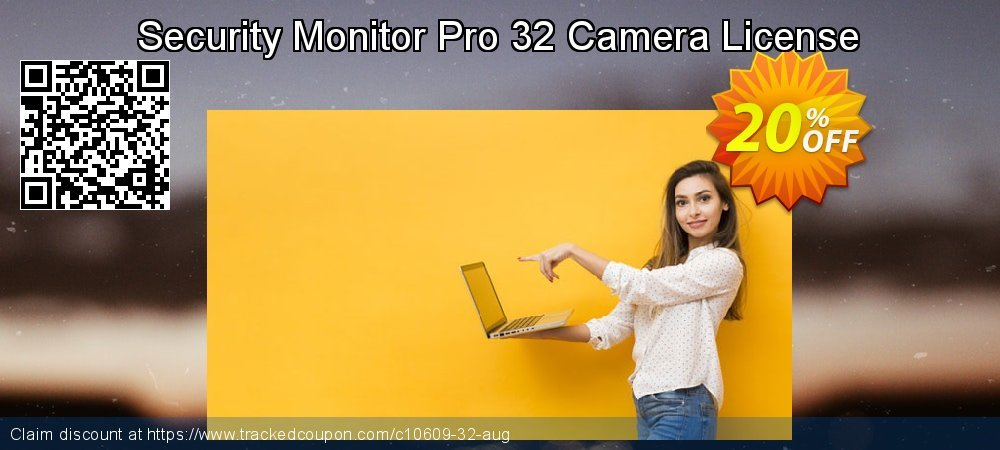 Get 20% OFF Security Monitor Pro 32 Camera License offering sales