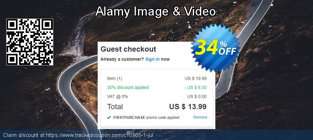 Alamy Promotion coupon on Summer discount