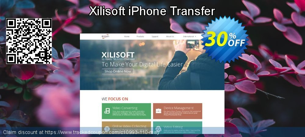 Get 30% OFF Xilisoft iPhone Transfer offer