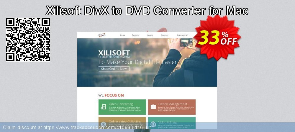 Get 30% OFF Xilisoft DivX to DVD Converter for Mac offering deals
