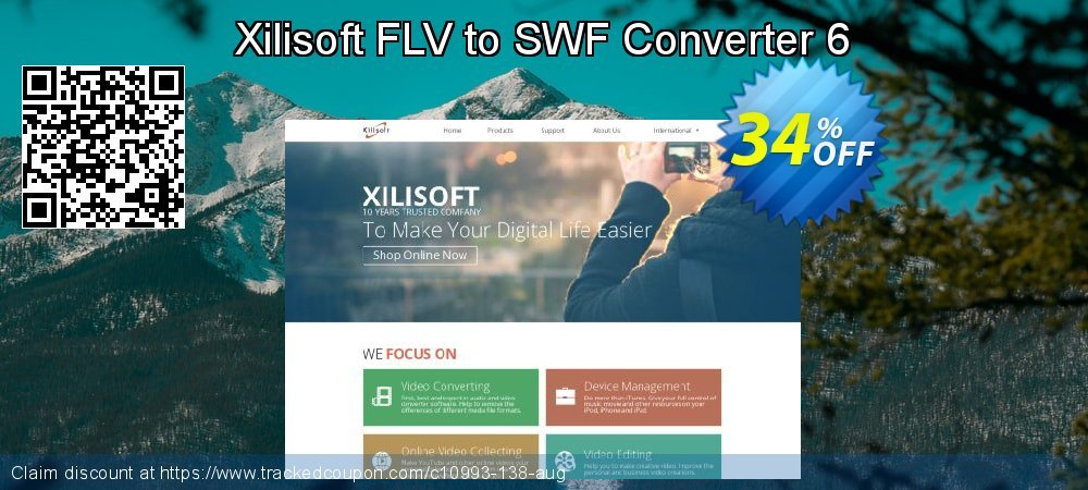 Get 30% OFF Xilisoft FLV to SWF Converter 6 offering sales