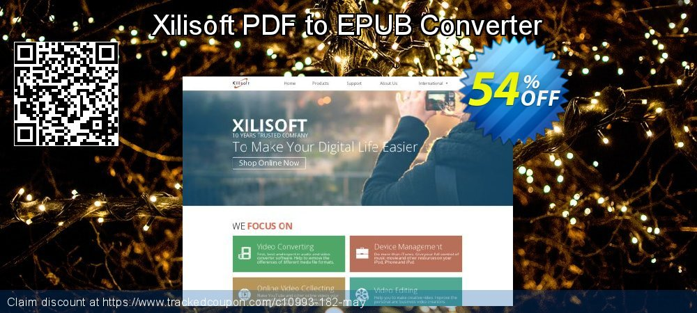 Xilisoft PDF to EPUB Converter coupon on Halloween offering sales