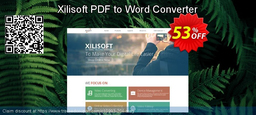 Get 50% OFF Xilisoft PDF to Word Converter offering sales