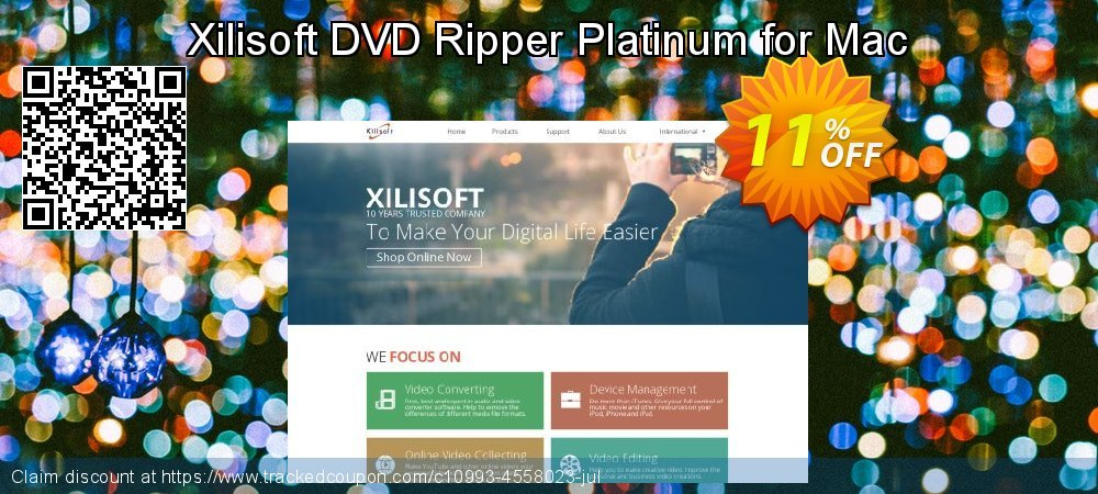 Get 10% OFF Xilisoft DVD Ripper Platinum for Mac sales