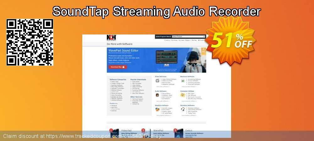 Get 50% OFF SoundTap Streaming Audio Recorder promo