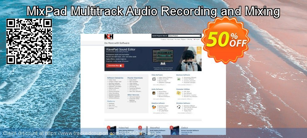 MixPad Multitrack Audio Recording and Mixing coupon on Halloween offering sales