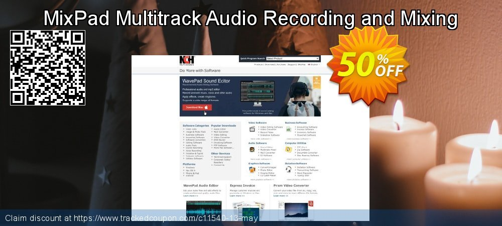 MixPad Multitrack Audio Recording and Mixing coupon on New Year's Day offering sales