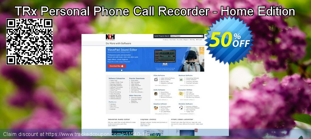 Get 15% OFF TRx Personal Phone Call Recorder - Home Edition offer