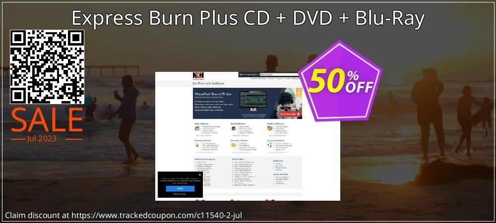 Express Burn CD + DVD + Blu-Ray coupon on Halloween discount