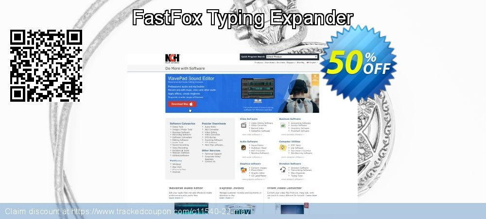 FastFox Typing Expander coupon on Happy New Year offering sales