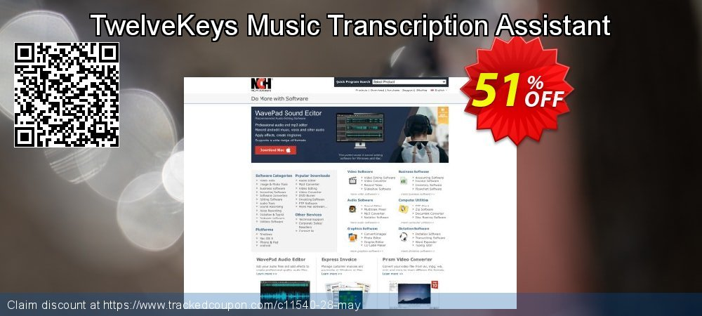 Get 50% OFF TwelveKeys Music Transcription Assistant offering sales