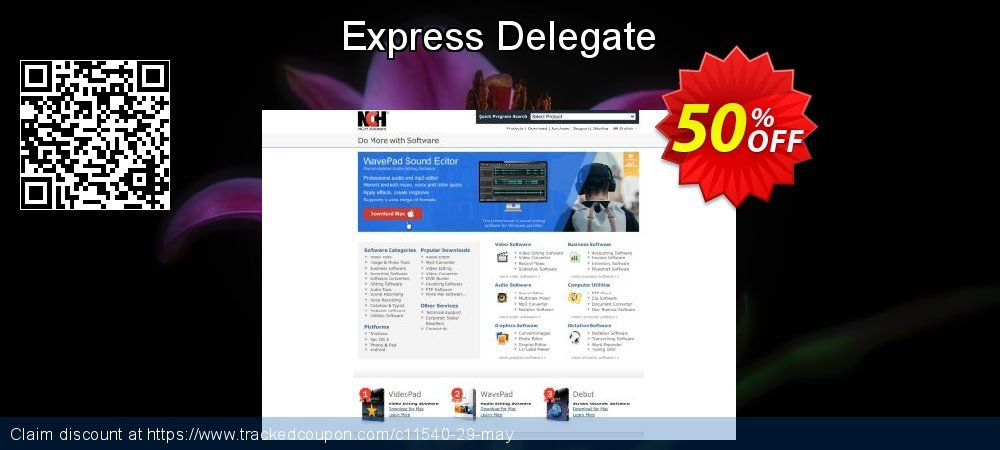 Express Delegate coupon on New Year's Day discount