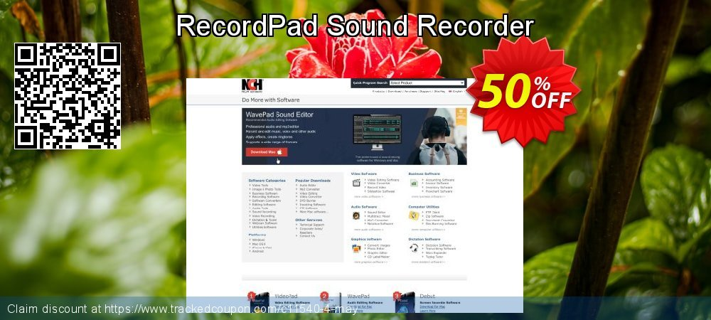 RecordPad Sound Recorder coupon on New Year offering sales