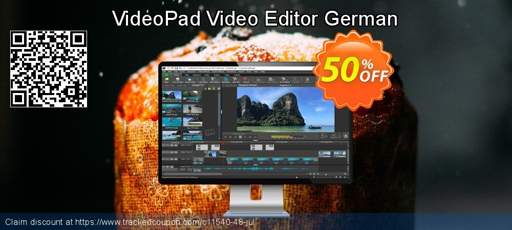 VideoPad Video Editor German coupon on New Year offering discount