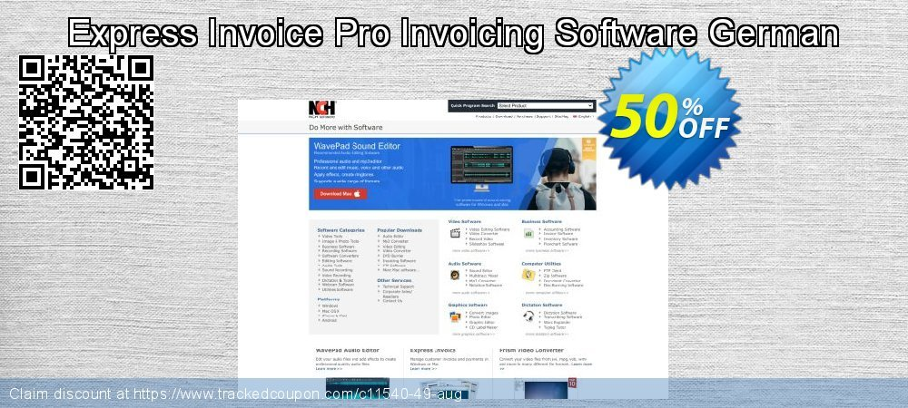 Express Invoice Pro Invoicing Software German coupon on New Year's Day offering sales