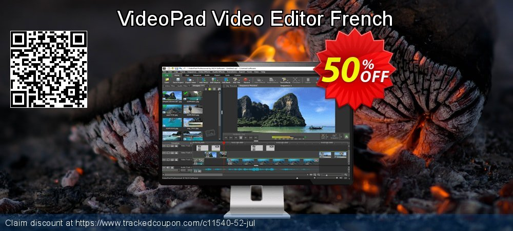 VideoPad Video Editor French coupon on New Year promotions