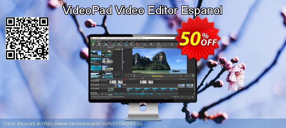 Get 15% OFF VideoPad Video Editor Espanol offering sales